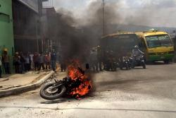 Se incendió motocicleta en el Centro de Bucaramanga