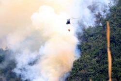 Así se controló el incendio forestal en zona del páramo del Santurbán