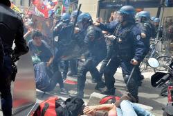 Imágenes de las protestas contra la reforma laboral en Francia