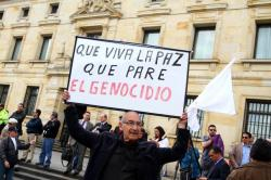 Así celebraron los ciudadanos el nuevo acuerdo de paz en Bogotá