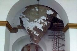 Techo de iglesia de cerca de 200 años se cae a pedazos en Santander