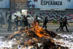 Imágenes de los disturbios durante la marcha de los opositores en Venezuela