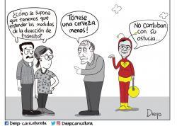Caricaturizan polémicas decisiones de Tránsito de Bucaramanga