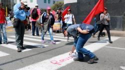 Las mejores imágenes de las marchas del 'Día del trabajo' en Bucaramanga