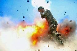 Esta soldado logró fotografiar el momento exacto de su muerte