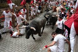 Así se viven los famosos encierros en las fiestas de San Fermín en España