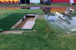 Así amaneció el estadio Alfonso López tras aguacero en Bucaramanga