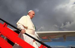 Imágenes de la gran bienvenida del Papa Francisco
