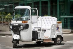 El motocarro que fue acondicionado para el Papa Francisco en Medellín
