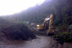 Paso restringido en la vía Bucaramanga-Cúcuta tras el derrumbe