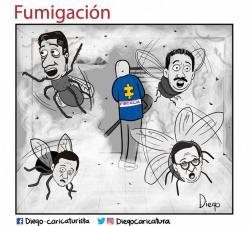 Cuatro caricaturas sobre 'fumigación' a la corrupción en Santander