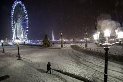 Así se ve París tras el temporal de nieve