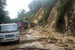 Así está la vía que comunica a Bucaramanga con Cúcuta tras deslizamientos