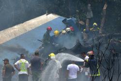 Imágenes de la tragedia aérea en La Habana, Cuba