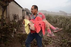 Los rostros de la tragedia por erupción de volcán en Guatemala