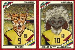 Carlos Tití Valderrama y las demás estrellas del 11 ideal de la biodiversidad colombiana