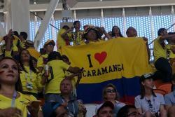 La 'marea amarilla' se tomó las calles de Rusia previo al partido de Colombia