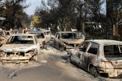 Incendio en Grecia cobra al menos 74 víctimas mortales
