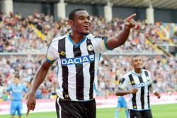 Duván Zapata se reportó con este gol en el empate de Udienese con Empoli