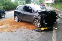 Grave accidente tras microsueño de conductor en vía a Piedecuesta