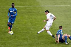 Vea el gol de James Rodríguez en  la goleada del Madrid a Getafe