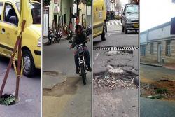 Cuatro huecos se convirtieron en 'trampas mortales' en Bucaramanga