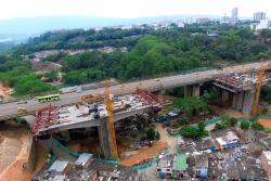 Desde un drone, conozca los avances de construcción del Viaducto de La Unión de Bucaramanga