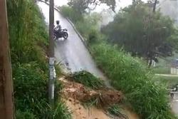 Aguacero generó deslizamiento de tierra en Bucaramanga