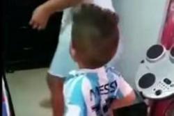 La pataleta de un niño colombiano por la camiseta de Messi