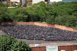 Denuncian robo de gasolina a moto en 'patios' de Tránsito de Bucaramanga