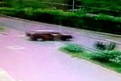 Video registró imprudencia que dejó un motociclista herido en Bucaramanga