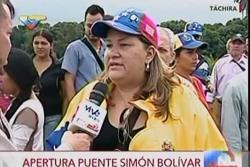 """""""En el país nadie pasa hambre, aquí tenemos los productos"""": Venezolana en la Frontera"""