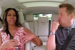 Michelle Obama imitó a Beyoncé en el programa 'Carpool Karaoke'