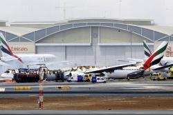 Pasajeros del avión que se estrelló en Dubái resultaron ilesos