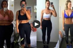 Video muestra impactante pérdida de peso de una mujer en dos años