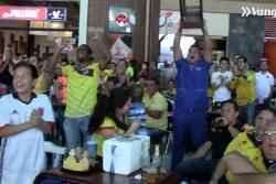Bumangueses celebraron el triunfo de Colombia y criticaron falta de puntería en los penales