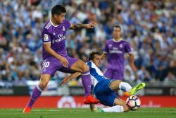 Con golazo de James, Real Madrid empezó ganando a Espanyol