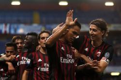Carlos Bacca anotó el primer gol del Milán ante la Lazio