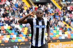 Duván Zapata marcó en el empate 2-2 entre Udinese y Fiorentina