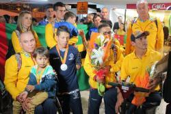 Medallistas paralímpicos santandereanos fueron recibidos en Bucaramanga