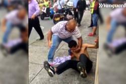 A golpes detienen a sujeto que robó un celular en Bucaramanga