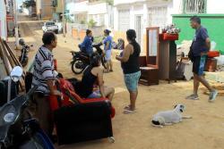 Chorro de agua a presión provocó pérdidas de enseres en 3 casas de Bucaramanga