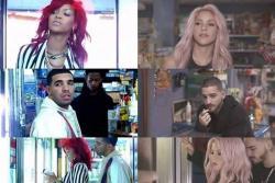 """Fans de Rihanna acusan a Shakira de plagio por el video de """"Chantaje"""""""