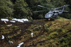 Impactante video muestra surco que dejó el avión del Chapecoense