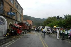 Video revela los momentos tras el accidente en San Gil