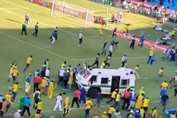 Batalla campal en estadio de Sudáfrica quedó registrada en video