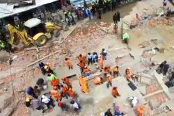 Así se ve la tragedia del colapso del edificio en Cartagena desde un drone