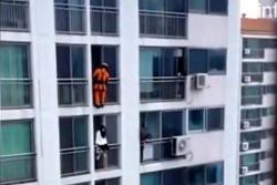 La asombrosa maniobra de un bombero que salvó a una joven del suicidio