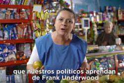 """""""La loca de las naranjas"""" ahora apoya a Frank Underwood"""