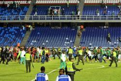 Video registró riña entre hinchas de América y Cali en el estadio
